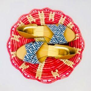Dolce Vita Cross Strap Peep Toe Flats
